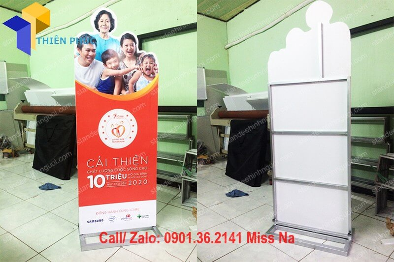 standee khung sat quang cao gia re